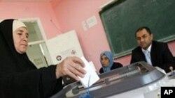 9일 요르단 총선거 투표소