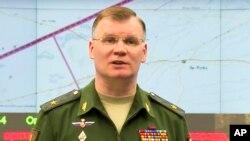 Официальный представитель министерства обороны России генерал Игорь Конашенков