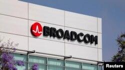 美国加州的美国芯片制造巨头博通(Broadcom)公司的标徽。