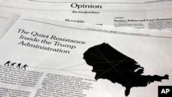 New York Times သတင္းစာကုိ စာမေရးခဲ့ေၾကာင္း ကန္အရာရွိေတြ ျငင္းဆုိ