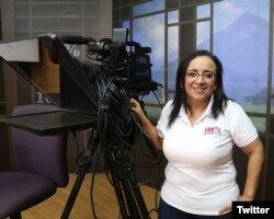 La periodista Lucía Pineda Abau está detenida y a la espera de juicio en Nicaragua.