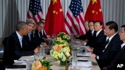 2003年6月8日在加州﹐美中兩國政府完成換屆之後首次高級別會晤。