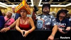 威斯康辛州绿湾的川普支持者。(2016年10月17日)