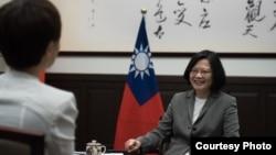 台灣總統蔡英文月前接受路透社專訪(台灣總統府圖片)