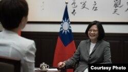 台湾总统蔡英文接受路透社专访(台湾总统府图片)