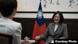 台灣總統蔡英文接受路透社專訪(台灣總統府圖片)