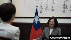 Tổng thống Đài Loan Thái Anh Văn trả lời phỏng vấn Reuters.