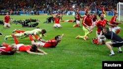 Abakinyi ba Pays De Galles bigina intsinzi inyuma yo gutsinda Ububirigi muri Quart de Final
