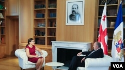 Nana Sajaia of VOA's Georgian service spoke with Georgian President Giorgi Margvelashvili, Aug 1, 2017.