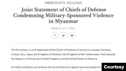 Joint Statement of Chiefs of Defense