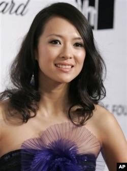 中国著名演员章子怡2008年在美国出席活动