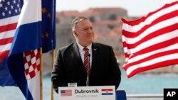 Ngoại trưởng Hoa Kỳ Pompeo đến Croatia vào ngày 2/10/2020.