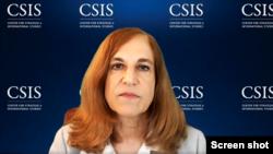 """Chuyên gia Bonnie Glaser, Cố vấn Cao cấp về Châu Á và Giám đốc Dự án Sức mạnh Trung Quốc tại Trung tâm Nghiên cứu Chiến lược và Quốc tế (CSIS) trao đổi trực tuyến với báo giới hôm 27/05/2020 về chủ đề """"An ninh Khu vực Biển Đông giai đoạn Covid-19."""""""