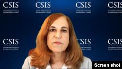 国际与战略研究中心亚洲问题高级顾问葛来仪(Bonnie Glaser)2020年5月27日在一个发布会上。