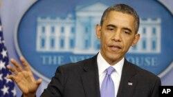 Predsednik Barak Obama govori na poslednoj konferenciji za novinare u 2013.