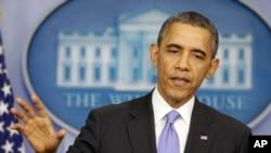 Tổng thống Obama phát biểu trong cuộc họp báo cuối năm tại Tòa Bạch Ốc.