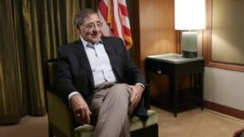 U.S. Defense Secretary Leon Panetta during an interview with VOA Pentagon correspondent, Luis Ramirez, November 15, 2012.