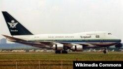 Salah satu pesawat maskapai Saudia atau Saudi Arabian Airlines (foto: ilustrasi).