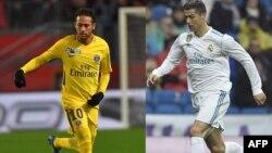 Le Brésilien Neymar Jr, joue pour le PSG. Le Portugais Cristiano Ronaldo, joue pour le Real Madrid.