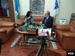 OSCE Ambassador to Uzbekstan John MacGregor talks to VOA's Navbahor Imamova in Tashkent, December 27, 2019