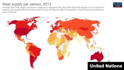 М'ясо - річні показники по країнах