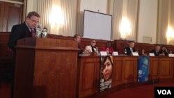 美国会萨哈罗夫奖25周年纪念活动。(美国之音杨晨拍摄)