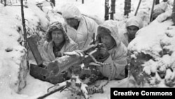 """Фінські солдати під час """"Зимової війни"""" з СРСР 1939-40р."""