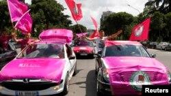 阿爾巴尼亞社會黨慶祝選舉勝利