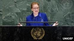 Giám đốc Điều hành Quỹ Nhi đồng Liên Hiệp Quốc (UNICEF), bà Henrietta Fore.