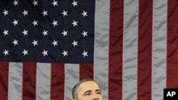 상하양원 합동회의장에서 새해 국정을 밝히는 오바마 대통령