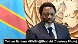 Le président Joseph Kabila de la RDC en marge de la 71e assemblée générale de l'ONU, New York, 23 septembre 2017. (Twitter/ Barbara NZIMBI @BNzimbi)
