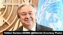 Le secrétaire général des Nations unies Antonio Guterres lors de l'assemblée générale de l'ONU, New York, 23 septembre 2017. (Twitter/ Barbara NZIMBI @BNzimbi)
