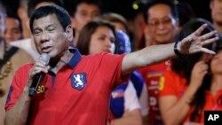 Ông Rodrigo Duterte trong một cuộc vận động tranh cử.