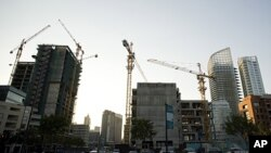 Cranes in construction sites in Downtown Beirut, Lebanon (file photo)