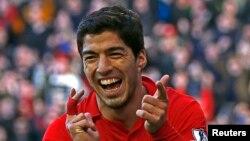 Luis Suarez dari Uruguay, yang telah melejitkan klubnya Liverpool ke anak tangga teratas Liga Premier Inggris dengan mencetak 10 gol selama Desember saja. (Foto: Dok)