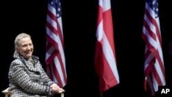 Госсекретарь США Хиллари Клинтон. Копенгаген. Дания 31 мая 2012 г.