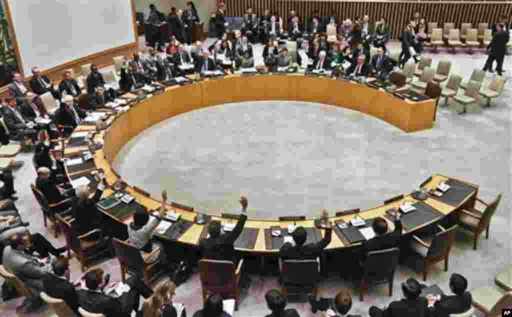 유엔 안보리가 7일 전체회의에서 북한의 3차 핵실험을 강력히 규탄하고 추가 제재를 가하는 내용의 새 대북 결의를 만장일치로 채택했다.