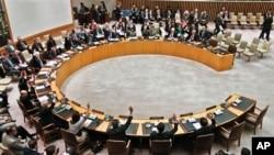 3月7日在纽约联合国总部安理会一致通过因朝鲜的核试验而从严制裁朝鲜