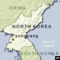 Map of Pyongyang, North Korea