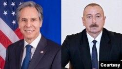 ABŞ Dövlət Katibi Antoni Blinken və Azərbaycan Prezidenti İlham Əliyev