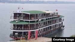 Viking ​Cruise Journey​ ​docks at Kampong Cham province.