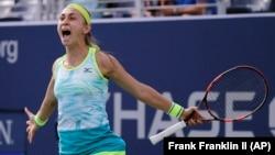 Aleksandra Krunić nakon pobede u prvom kolu US Opena