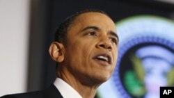 Presidente Barack Obama fala no Instituto de Defesa Nacional sobre a intervenção na Líbia