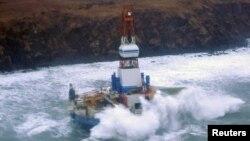 Fasilitas pengeboran milik Royal Dutch Shell di lepas pantai Alaska (foto: dok).