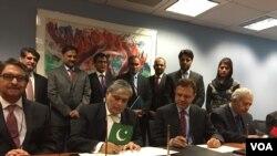 قرارداد میان پاکستان و افغانستان در حضور جیم یانگ کیم رئیس بانک جهانی امضأ شد