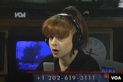 """Tadašnja dopisnica Glasa Amerike iz Bele kuće Pola Vulfson izveštava u programu """"News Now"""" nakon što je sa drugim dopisnicima evakuisana iz Bele kuće 11. septembra 2001. ."""