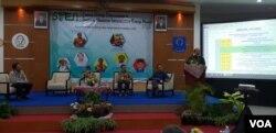 Seminar Infrastruktur Energi Nuklir di Yogyakarta, Kamis, 25 Oktober 2018. (Foto: VOA/Nurhadi).