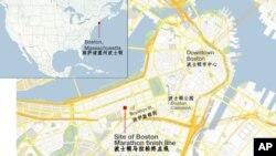 波士顿马拉松地理位置图