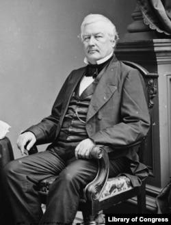 Millard Fillmore portrait by Matthew Brady, circa 1860.