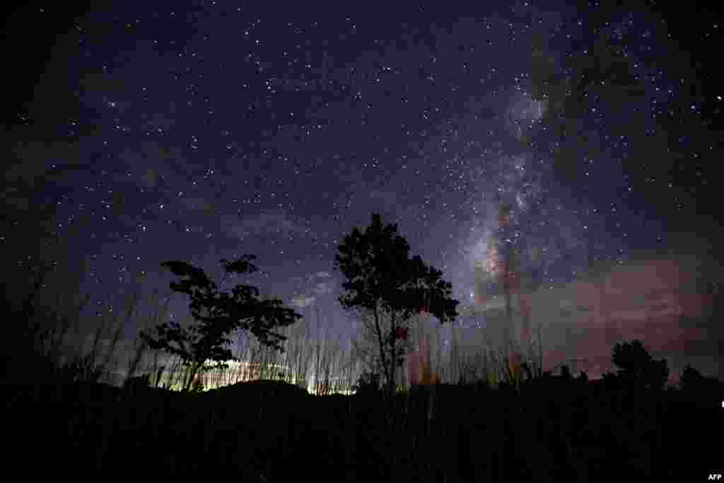 The Milky Way in the clear night sky near Rangoon, Burma